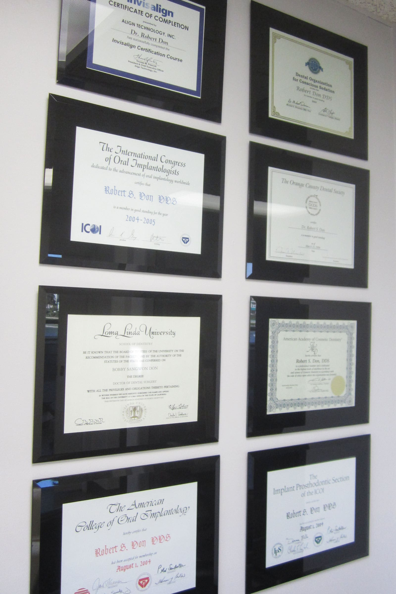 irvine dental implants certifications